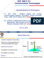ECE EEE F311 Spread Spectrum Techniques Nov 21, 2016