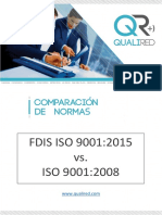 201508 - Comparación Iso 9001 2008 vs. 2015 - Qualired