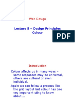 Lecture 5 - Design Principles Colour