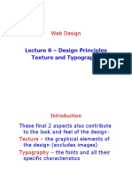 Lecture 6 - Texture and Typogaphy