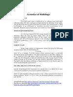 Acoustics of Buildings