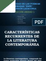 Caracteristicas Recurrentes de La Literatura Contemporánea (1)