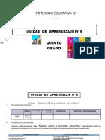 UNIDAD DE APRENDIZAJE 5° grado DE ED. PRIMARIA NOVIEMBRE 2016