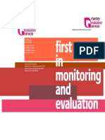 First steps in monitoring and evaluation (Bishop 2002)