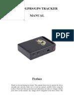 TK102B GPS Tracker User Manual