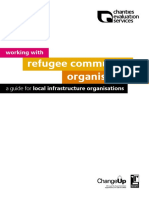 Working with organisations refugee community