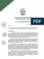 Resoluci+¦n N-¦140-2016-SINEACE-CDAH-P