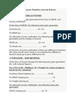 Accounts Payable Journal