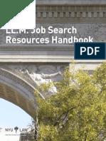 LL.M. Job Search Resources Handbook. NYU Law