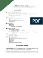 MBA Quantitative Analysis Topic 1 Statistics