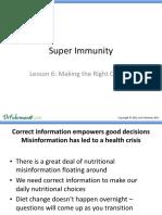 Super Immunity Lesson 6