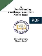 Booklet Sabbath-sunday Challenge You