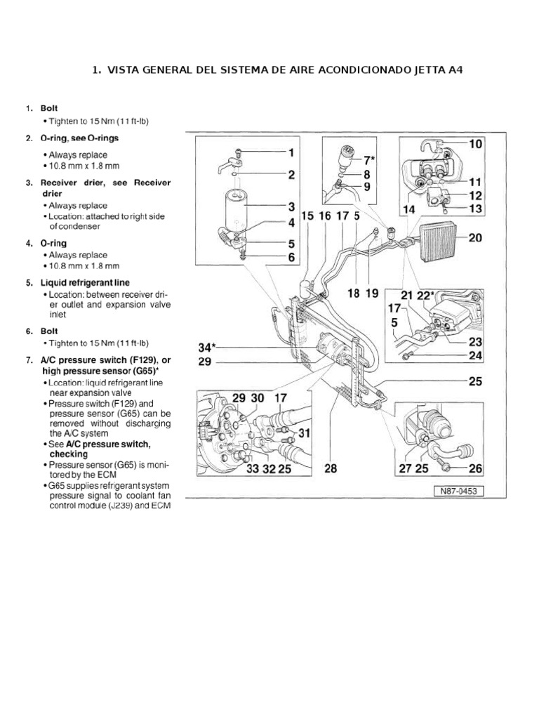 Sistema De Aire Acondicionado Jetta A4