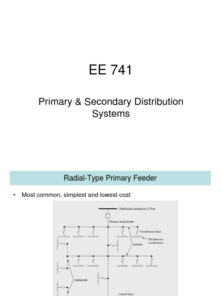 EE 741-Primary & Secondary Systems | Inductance | Capacitor