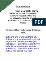 Tarabeeh Niyat