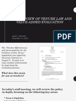 overview of tenure law and value-added evaluation