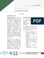 Informe Determinacion de Fibra