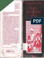BIERRENBACH, M. Inês. Política e Planejamento Social. Brasil, 1956 a 1978