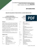 One-Shot Balancing of Rigid Rotors, A Closed Form Solution - DeTC 2009