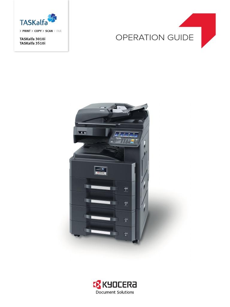 Taskalfa 3010i 3510i Og En | Image Scanner | Fax