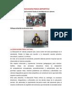 EDUCACIÓN FISICA DEPORTIVA