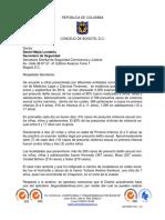 Carta Secretario de Seguridad