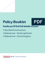 Home Insurance Policy Booklet 1014