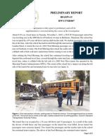 NTSB Preliminary report, fatal Baltimore bus crash