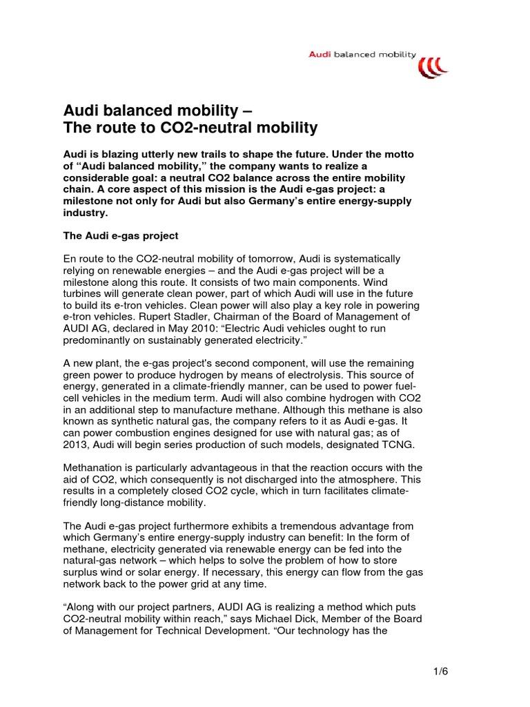 Audi Balanced Mobility - En | Wind Power | Natural Gas