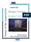 Budget Section Handouts 12-7-16