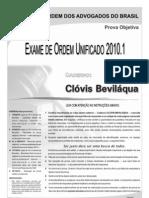 Exame OAB 2010-1 Prova Objetiva - Caderno de Questões - Clóvis Bevilaqua