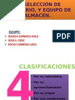 4.3 Seleccion de Moviliario y Equipo de Almacen
