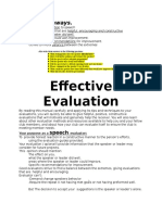 Effective Evaluation Outlined 202