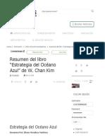Resumen Del Libro _Estrategia Del Océano Azul_ de W