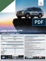 Ficha Técnica Toyota Land Cruiser 200