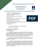 Programa Qca Orgánica 1-2015 fhu UNAF