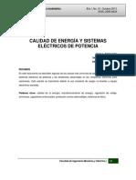 Calidad de Energia y Sistemas Electricos de Potencia