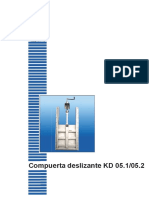Compuerta Deslizante KD 05.1 05.2 ES