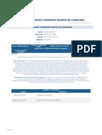 Perfil Competencia Operador Equipos de Chancado
