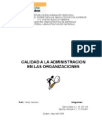 Calidad Organizacion