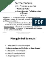 Chapitre II La Dynamique de l Inflation Et Du Chômage
