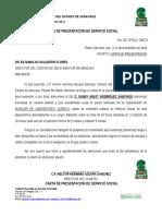 Carta de Presentacion de Servicio Social
