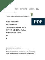 Tarea de i.c.s Capa de Ozono