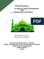 Proposal Panitia Peringatan Maulid Nabi Muhammad Saw 1438 H/2016
