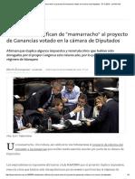 Tributaristas Califican de _mamarracho_ Al Proyecto de Ganancias Votado en La Cámara de Diputados - 07.12