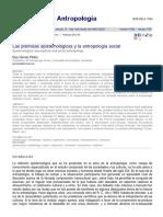 Las premisas epistemológicas y la antropología social_Eloy Gomez