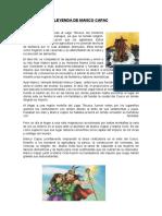 LEYENDA DE MANCO CAPAC Y LOS HERMANOS AYARA.docx
