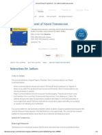 Journal of Neural Transmission - Incl