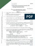 Analog Communication December 2012