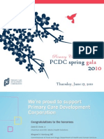 2010 PCDC Annual Spring Gala - Dinner Journal